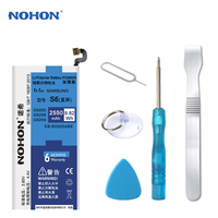 100 Nohon 2550mAh New Phone Battery For Samsung Galaxy S6 SM G9200 G920F G920A EB BG920ABE
