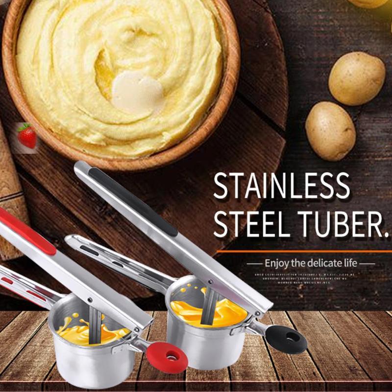 Potato Mashers Ricers Stainless Steel Pressure Mud Puree Vegetable Fruit Press Maker Garlic Presser Kitchen Cooking Tools