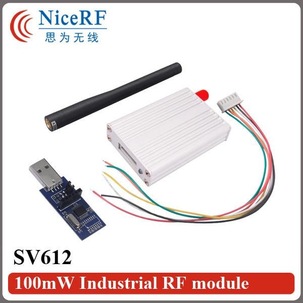 2 компл./лот 470 МГц Интерфейс RS232 100 МВт Беспроводной модуль Приемопередатчика SV612 (В Том Числе 2 шт. антенны и 2 шт. USB доска мост)