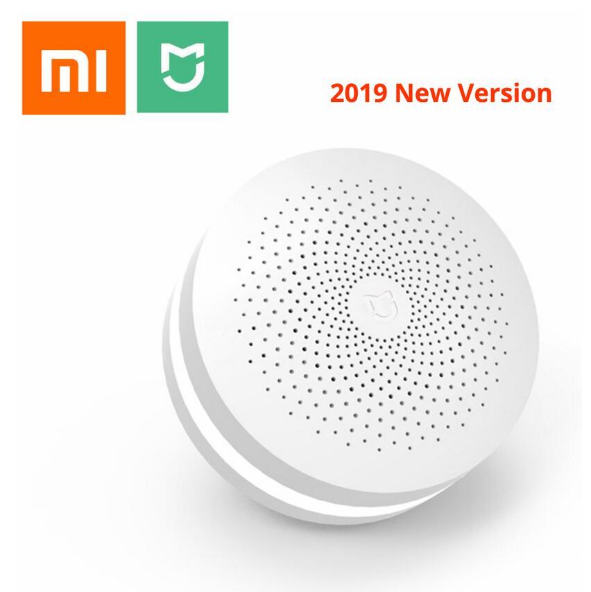 2019 nova xiaomi mijia multifuncional gateway 2 hub sistema de alarme rádio em linha inteligente luz noturna sino casa inteligente hub