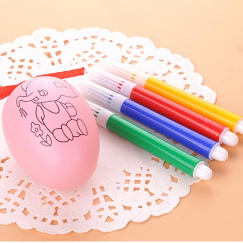 Children's Handmade DIY Easter Egg Graffiti Drawing Toys Manual Art&Craft Toys for Kid Boys Girls Gift Painted Eggshell Toys