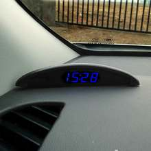 70f597b9668 Universal New Car Auto Relógio Termômetro Voltímetro Digital LEVOU Luminosa  para Tronco Veículo 12 V Time