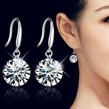 LEKANI модные ювелирные изделия 925 женские серебряные серьги с кристаллами от Swarovski новые женские именные серьги микро-набор для близнецов