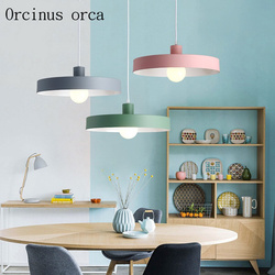 Nordycki współczesny minimalistyczny żelazna lampa wisząca  salon restauracja  bar  osobowość twórcza kolor żyrandol darmowa wysyłka