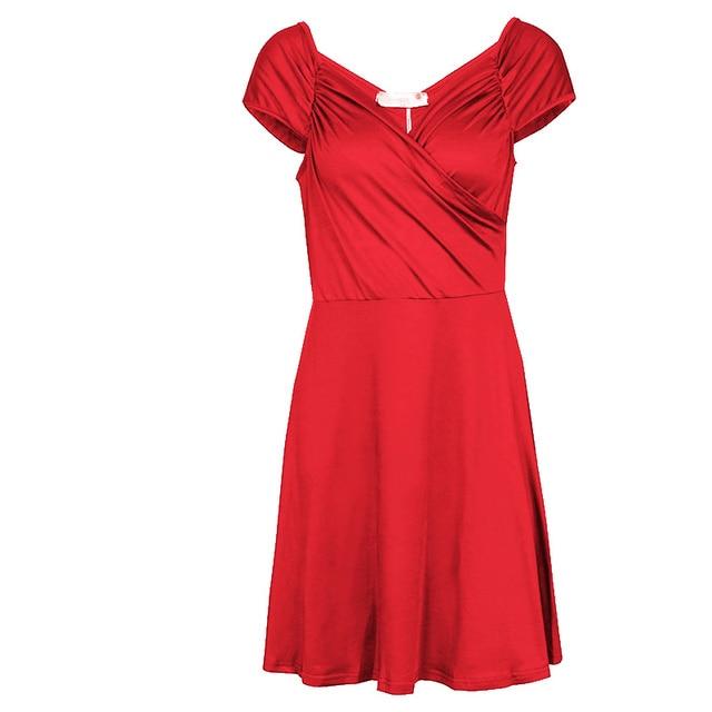 Fashion Women Short mini Dress Sleeveless V Neck Sexy Slim Party Dress Pleated Empire Waist A Line beach Dress LJ4865M 4