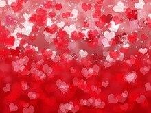 Valentim Coração Vermelho Fundos para venda de Vinil Computer impresso crianças foto fundo pano de Alta qualidade