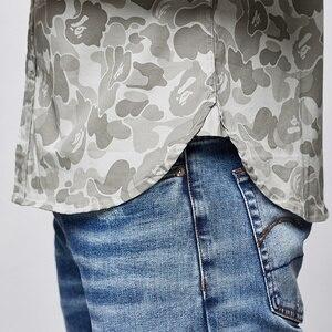 Image 4 - KUEGOU 2019 Sommer Baumwolle Camouflage Shirt Männer Kleid Casual Slim Fit Kurzarm Streetwear Für Bluse Männer Military Hemd 8817