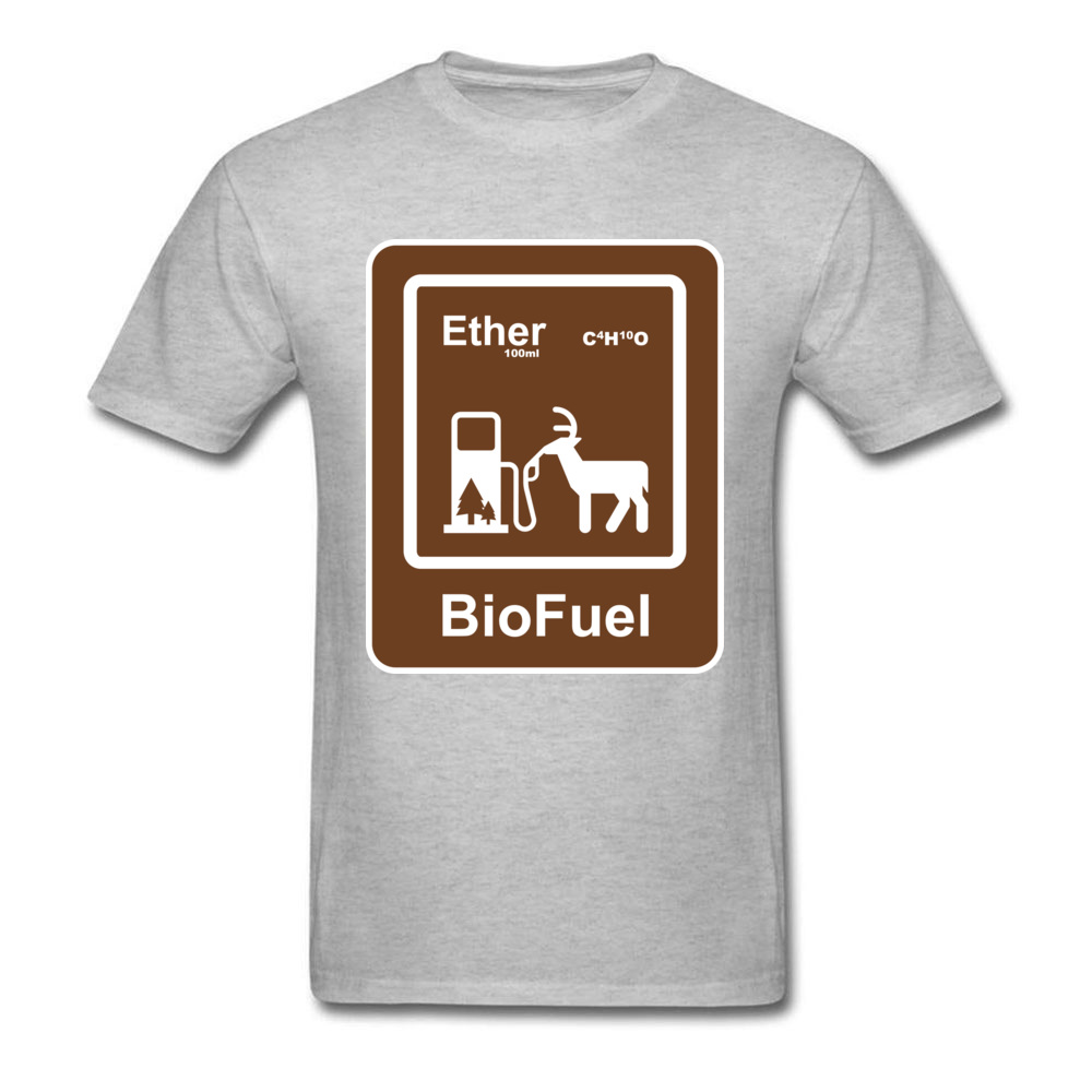 BioFuel Ether Illustration Gray T Shirt Latest O-Neck Cotton Breathable Mens T-shirts Comfortable Top T-shirts Men Drop Shipping