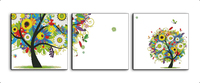 Happy watching tree(triple) cross stitch kits 14ct white 11ct print on canvas embroidery set sewing hand made crafts home decor