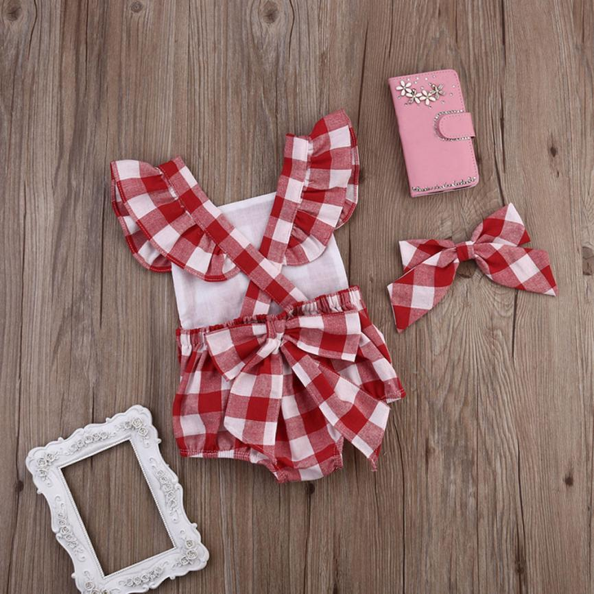 Loss Sale 2018 Newborn Baby Girl Cotton Bowknot Clothes Bodysuit Romper Jumpsuit Outfit Set 20