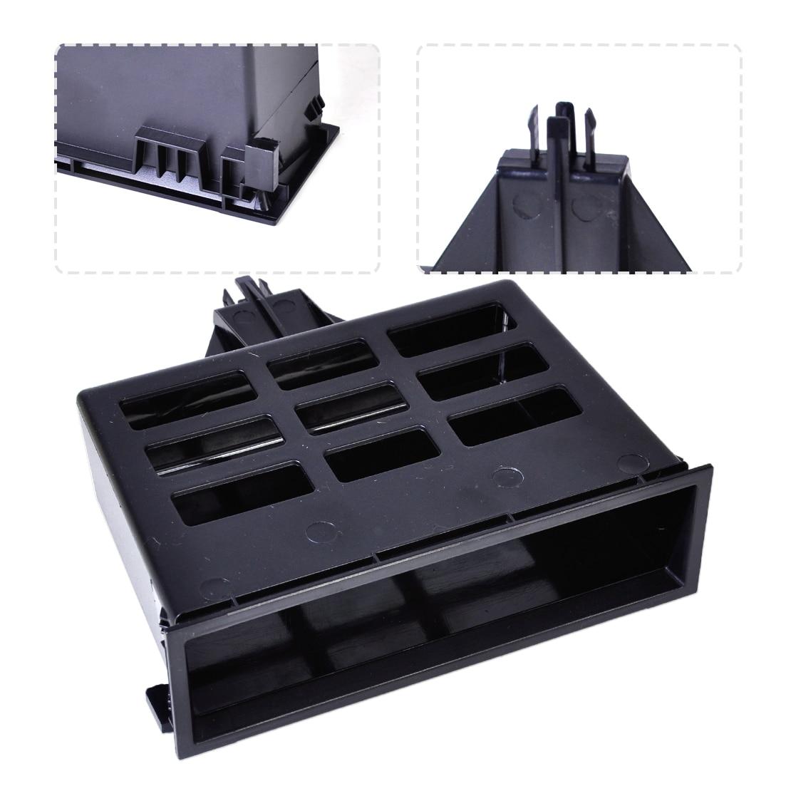 Black Dashboard Center Storage Tray Cubby Box 3B0857058 1J0857058A Fit for VW Jetta Golf MK4 Bora