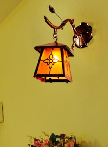 Wall Lamps aisle bedroom bedside Wall Lamps Iron village dining room wall light retro restaurant in front of the balcony FG236 light the mediterranean restaurant in front of the hotel cafe bar small aisle entrance hall creative pendant light df57