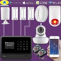 Золотой безопасности G90B плюс Wi Fi GSM 2 г дома охранной сигнализации Системы беспроводной проводной зоны движения Сенсор с Водонепроницаемый