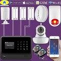 Золотой безопасности G90B Plus WiFi GSM 2G домашняя система охранной сигнализации беспроводной проводной зоны датчик движения с водонепроницаемой ...