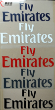 Fly Emirates sponsor patch MILAN MADRID PARIS BENFICA soccer patch white/purple/black/grey/red color(China)