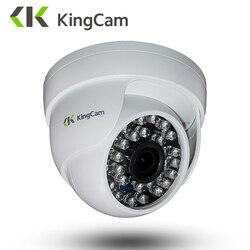 Kingcam 2.8mm lente dome câmera ip 1080 p 960 p 720 p de segurança interior ipcam dia/noite vista casa cctv onvif câmeras de vigilância