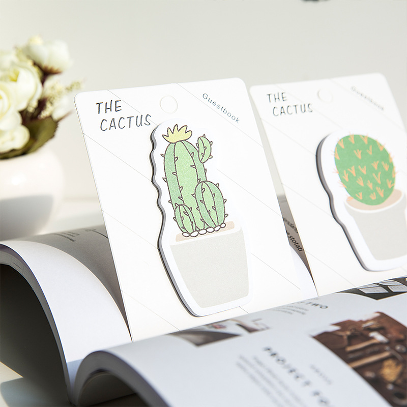 Korean Creative Stationery Sticky Cactus Sticky Notes This Sticker Notes Paper N Times Labeled Stickers