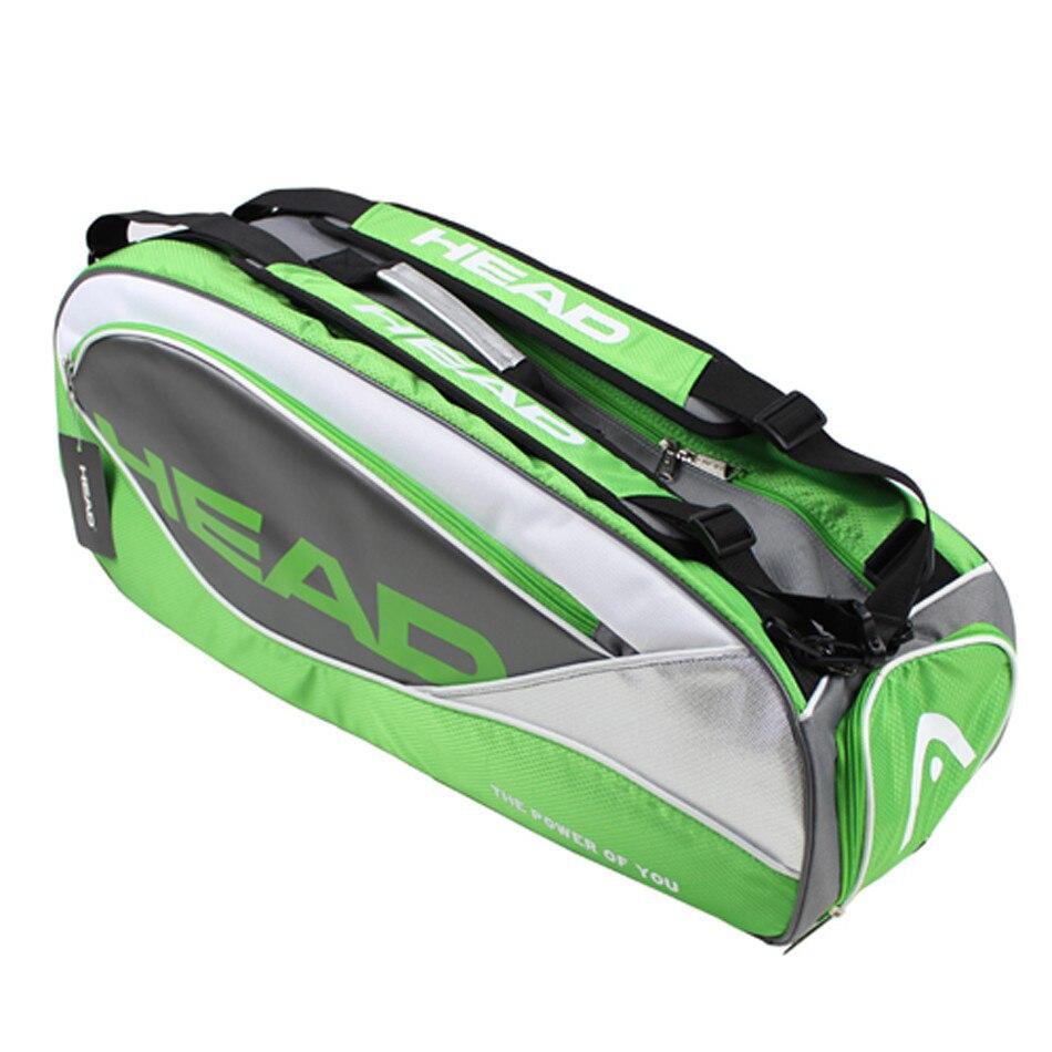 c63d6fa91b6 Head Tennis Racket Bag Large Capacity Limited Edition 6 Pens PU Badmiton  Racket Tennis Backpack Women