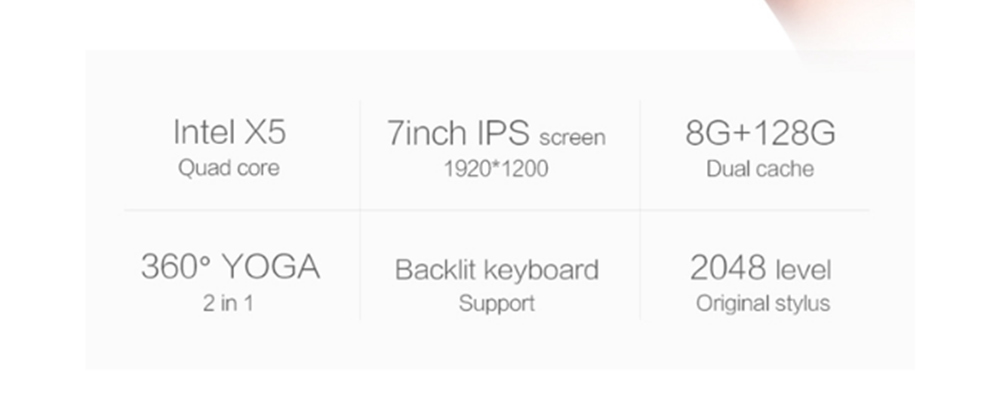 One Netbook One Mix Yoga Pocket Laptop Tablet PC 7 0'' Windows 10 1