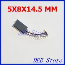 10pcs 14.5 x 8 x 5mm Power Tool Motor Carbon Brushes Generic Electric Motor 0.57″ x 0.31″ x 0.2″(L*W*H)