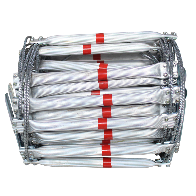 10M Fire Escape Ladder Steel Wire Rope Folding Ladders Aluminum Alloy Emergency Self Rescue Safety Antiskid Survival Tools outdoor multifunction camping tools axe aluminum folding tomahawk axe fire fighting rescue survival hatchet