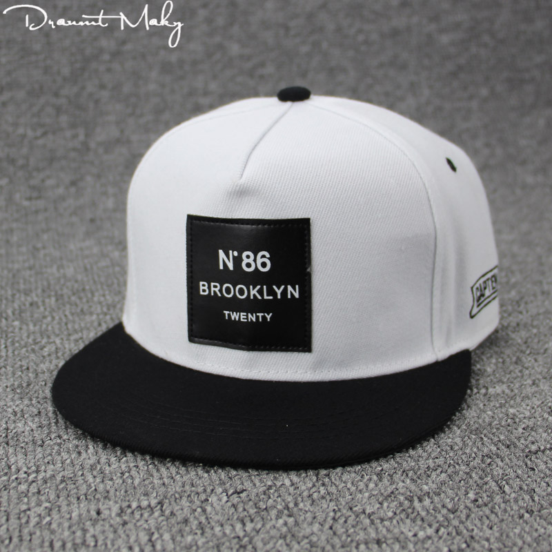 2018 Fashion Men Womens BROOKLYN Letters Solid Color Patch Baseball Cap Hip  Hop Caps Leather Sun Hat Snapback Hats brooklyn N86-in Baseball Caps from  ... c81f35c360bf