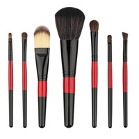 Makeup Brushes 7PCS Powder Palette Maquiagem Foundation Eyebrow Eyeliner Lipstick Blushes Concealer Brush Toiletry Kits