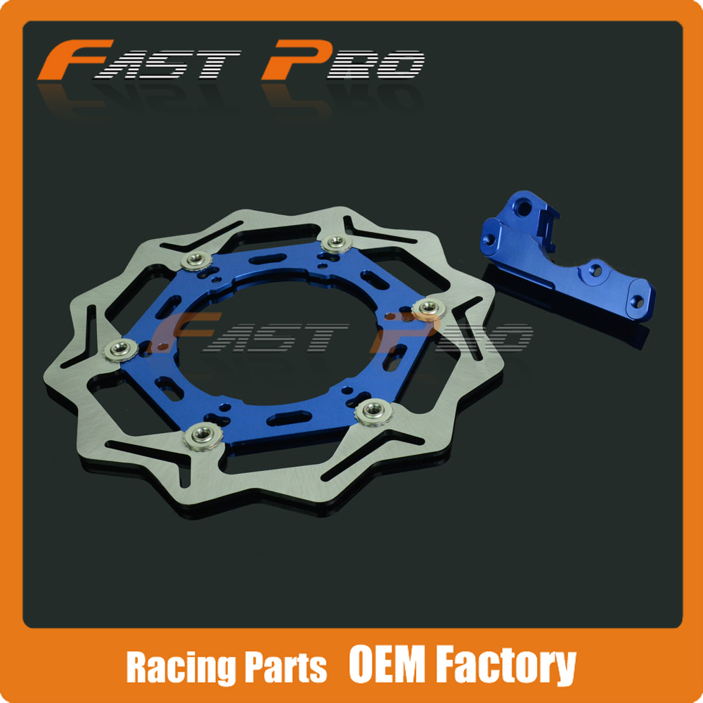 CNC Oversize 270MM Front Floating Brake Disc & Caliper Bracket Adapter for YZ125 WR125 WR250 YZ250 98-07 WR250F WR450F 03-15 keoghs motorcycle brake disc brake rotor floating 260mm 82mm diameter cnc for yamaha scooter bws cygnus front disc replace