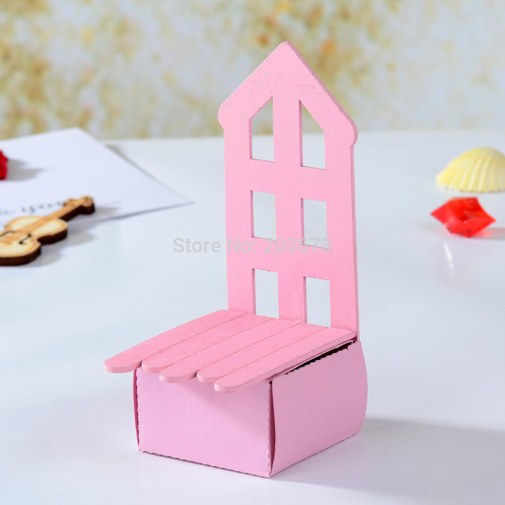 Baby Wooden Chair Boxes Candy Gift Boxes For Party Favors 12pcs-in ...