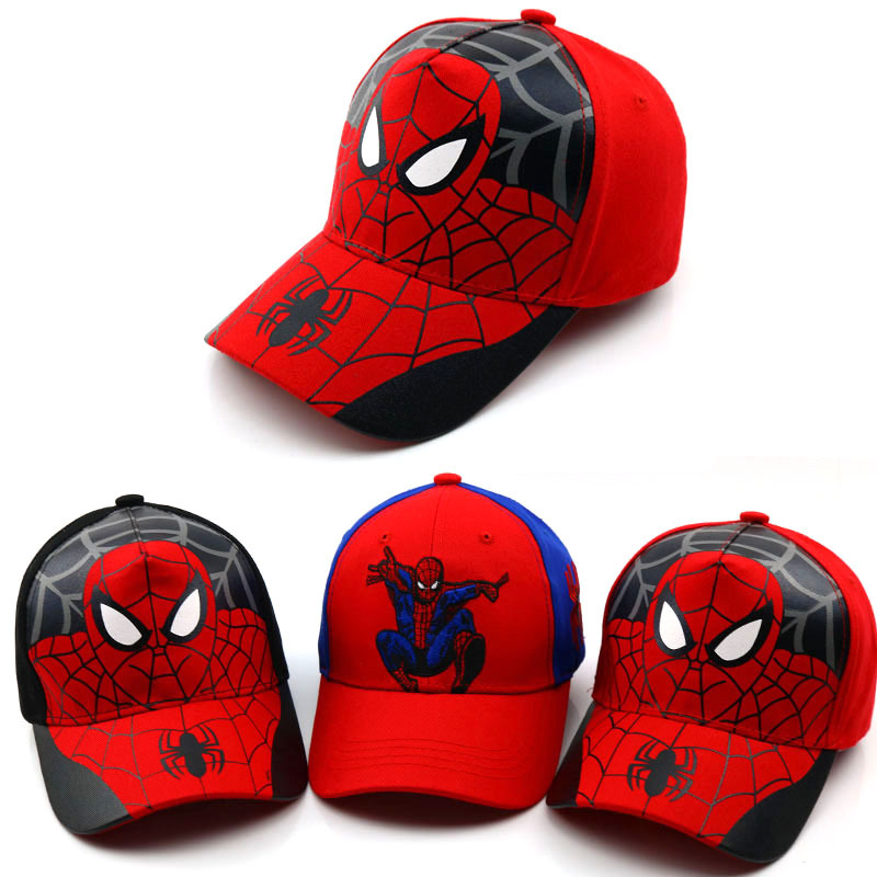 2019 Baby boy girl hats New Spiderman Cartoon baby Embroidery Cotton   Baseball     Caps   kids Boy Girl Hip Hop Hat kids Snapback