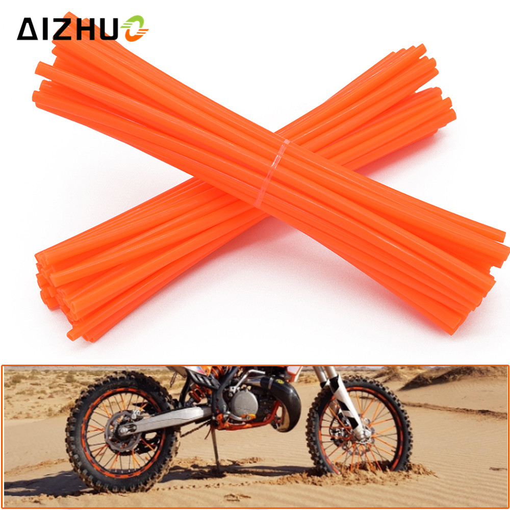 11 Color 72 Pic Motorcycle Wheel Spoke Skin Dirt Bike Pit Plastic Rim Skins For KTM 125 150 250 300 EXC XC SX