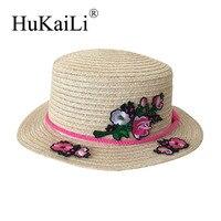 Panama importowane bisior Sufit krótkie okap Hafty kwiat ozdoby kapelusz Słońce przywrócenia starożytnych ścieżek kobiet
