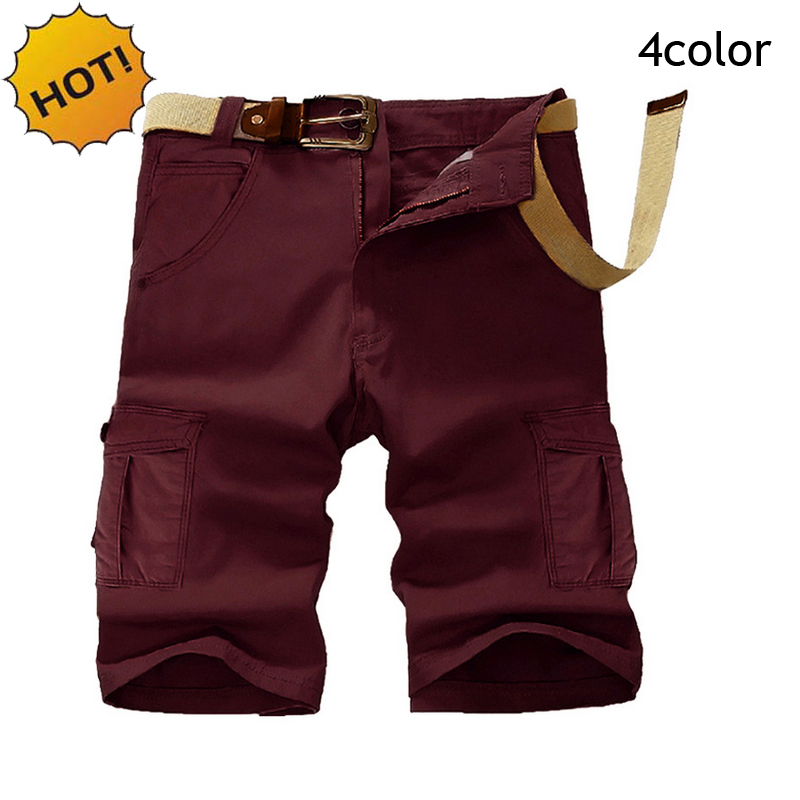 HOT 2017 Fashion Men Joggers Military Multi-Pocket Straight Cotton Short Trousers Mens Baggy Cargo Shorts Plus Size 30-38