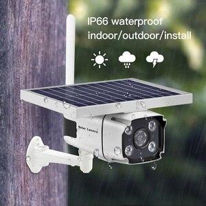 Image 2 - 4G SIM kart kablosuz güneş IP kamera 1080P HD Bullet güvenlik kamera IR gece görüş güneş enerjili CCTV gözetleme kamerası