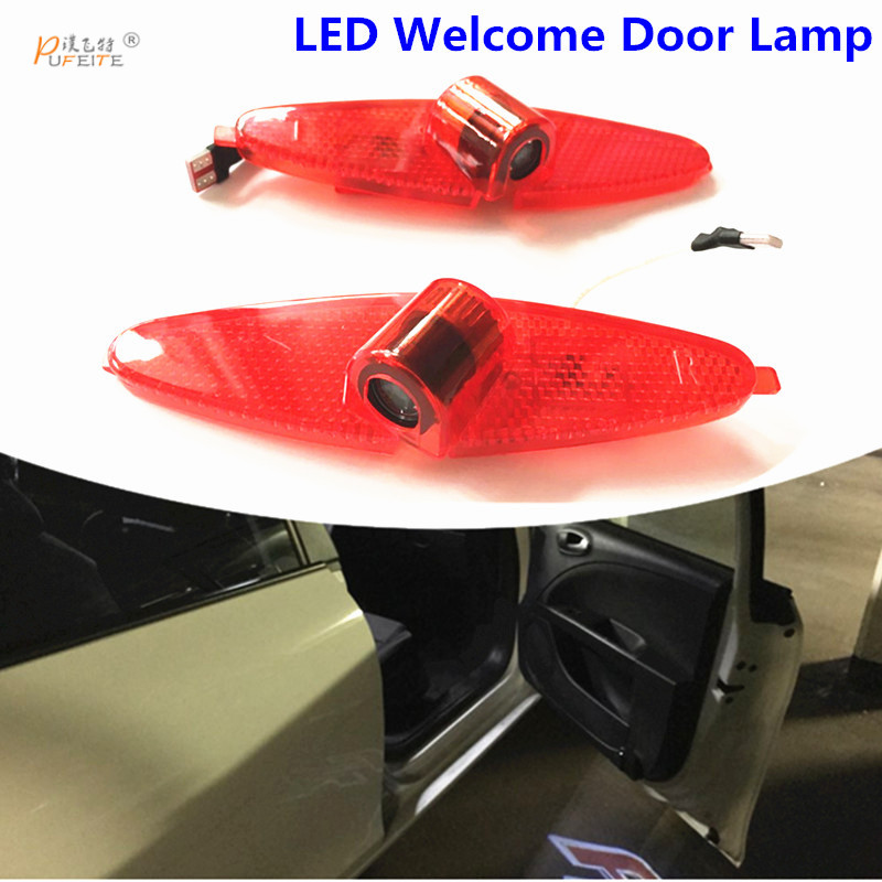2/PCS  PUFEITE LED Car Door Welcome Light Laser Car Door Shadow led Projector Logo For JAC  for refine s5 S3 car sticker for skoda octavia led 3w welcome car door logo lights projector laser ghost 3d shadow accessories original door light replace