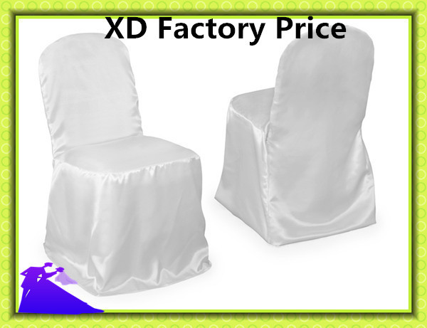 2015 sale cheap free shipping stain fabric white chair covers for wedding banquet in chair