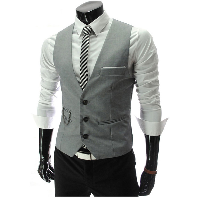 Nova listagem 2016 homens Vest moda nova marca sólida projeto colete masculino Casual Slim Fit coletes terno homens Plus Size M-XXL Veste 50