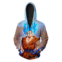 Dragon Ball Hoodies Men Women 3D Hoodie Dragon Ball Z Sweatshirts Zipper Fashion Casual Tracksuits Boy