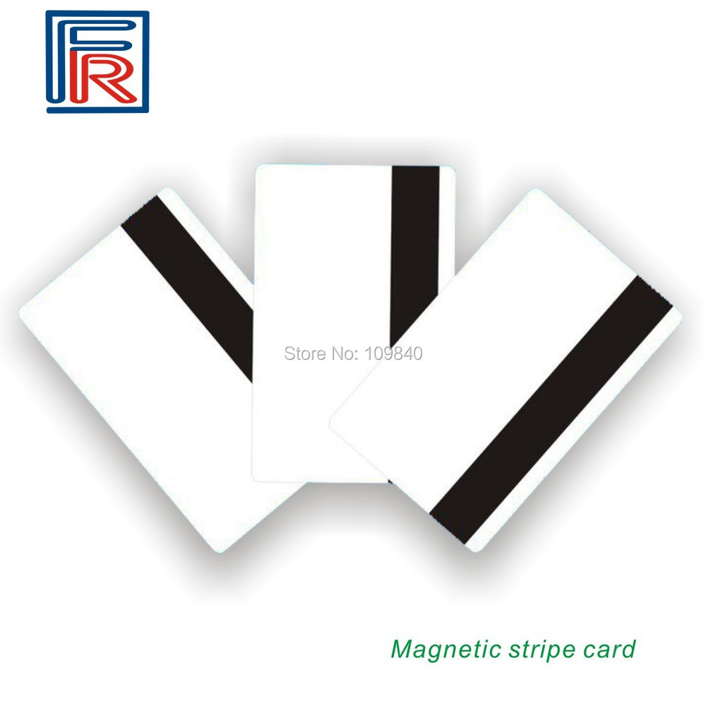 50pcs/lot Hi-Co Blank PVC Magnetic Stripe Card with 3 track Printable By Plastic Card Printer 20pcs lot contact sle4428 chip gold card with magnetic stripe pvc blank smart card purchase card 1k memory free shipping