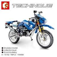 SEMBO 701702 799PCS YAMAHA WR250 Off road Motorcycle Building Blocks Bricks Kids Toys Compatible LegoINGlys Technic Motor