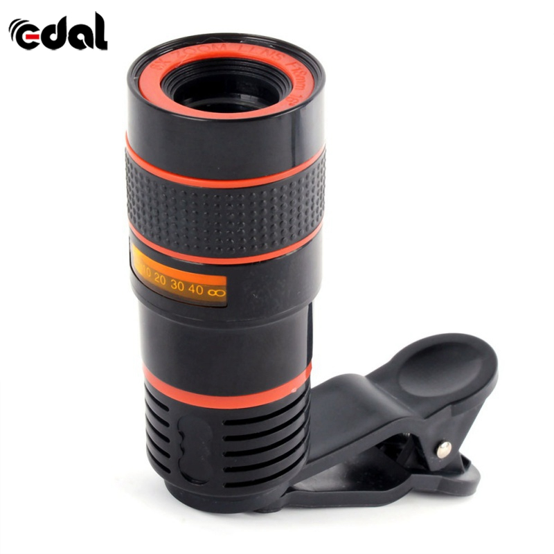 EDAL Universal Clip 12X Zoom Mobile Phone Telescope Lens Telephoto External Smartphone Camera Lens for iPhone For Sumsung Huawei