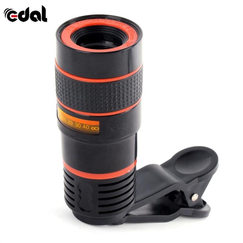 EDAL Universale Clip di 12X Zoom Mobile Phone Telescope Lens Teleobiettivo Esterno Smartphone Dell'obiettivo di Macchina Fotografica per il iphone Per Sumsung Huawei