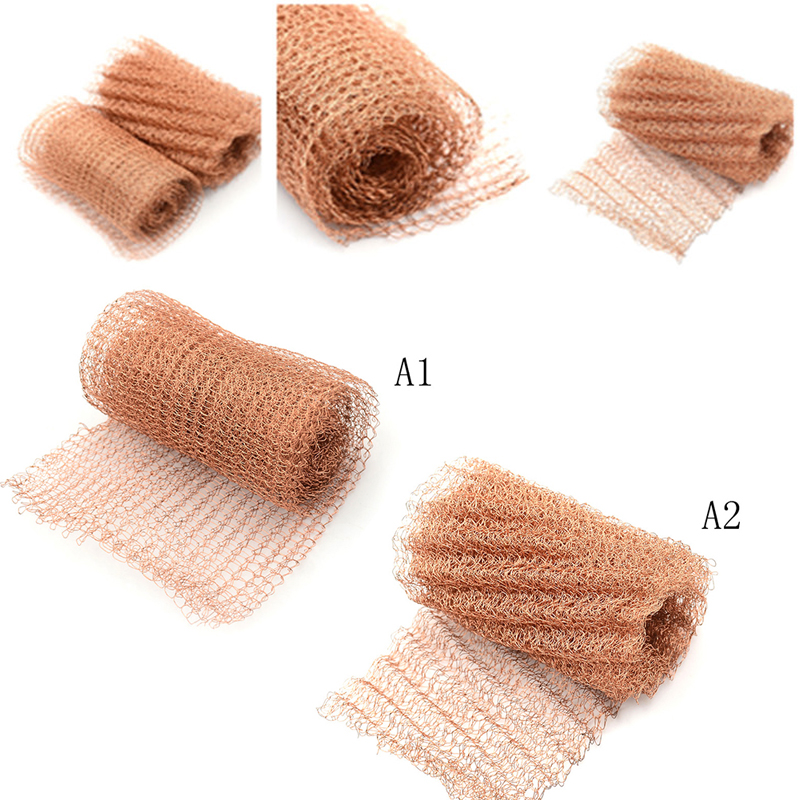 1 PC Copper 100mm Width Corrugated Copper Mesh For Distillation Reflux Moonshine Brewing Pest Control