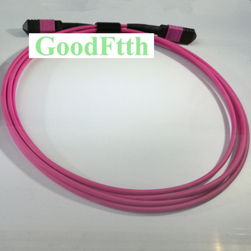Fiber Patch Cord Jumper Cable MPO-MPO Multimode OM4 12-Core GoodFtth 1-15mFiber Patch Cord Jumper Cable MPO-MPO Multimode OM4 12-Core GoodFtth 1-15m