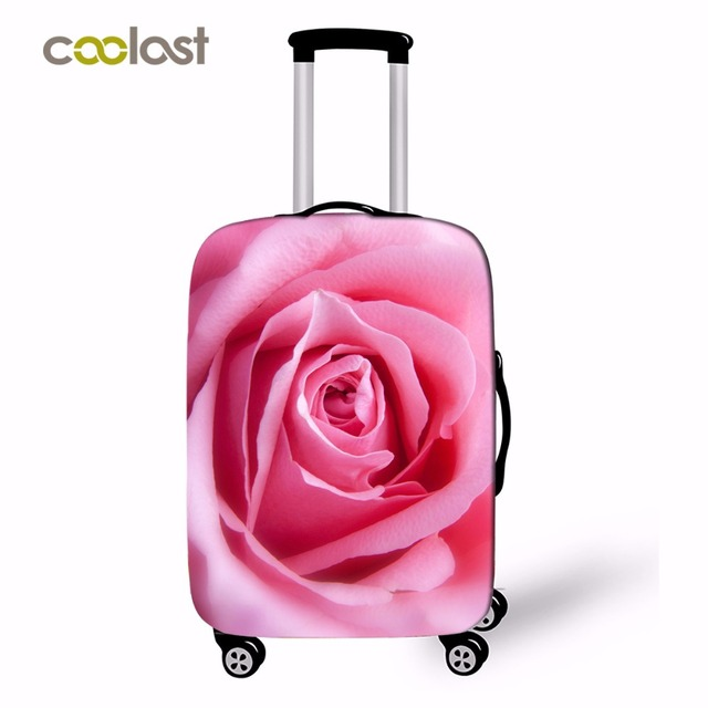 943624e2ec86 US $18.55 |18 28 Inch Rose Print Women Luggage Covers For Girls Suitcases  Travel Accessories Dust proof Case Covers Dropshipping-in Travel  Accessories ...