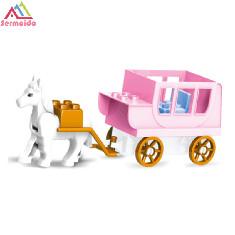 sermoido Royal Carriag Car Sofia the First Magical Carriage Large Building Block Toys For Children DBP274