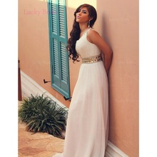 New elegant hot sale square collar sleeveless bridesmaid dress a line chiffon beaded floor length dresses