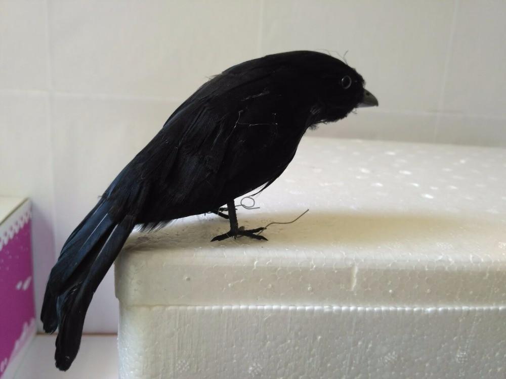 about 15cm black crow bird modelhalloween prop foamfeathers simulation crow handicraft garden decoration