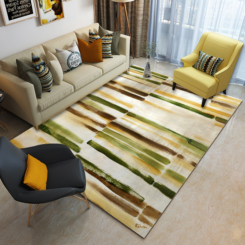 Image 3 - Nordic minimalist coffee table living room carpet Printed children's crawling mat Custom bedroom floor mat plush non slip rug-in Carpet from Home & Garden