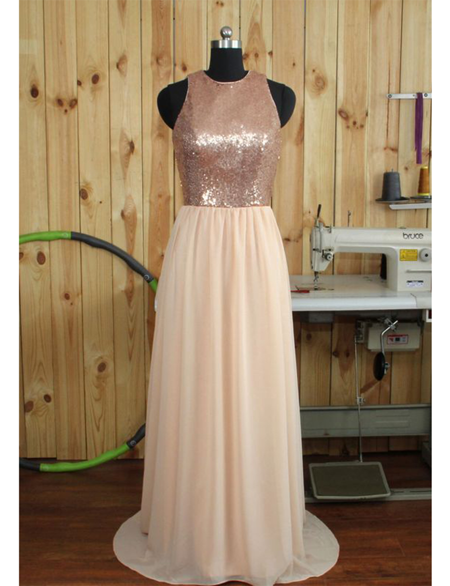 Shinning Long Gold White Bridesmaid Dresses Chiffon Sequin Unique Bridesmaid  Dress Empire Sparkly Bridesmaid Gown Wedding B41-in Bridesmaid Dresses from  ... a1f50ae53371